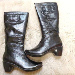 Naot  Divine Black GlossTall  Boots Ez 11